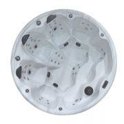 EAGO Whirlpools Außenwhirlpool Classic IN-097 Innenansicht